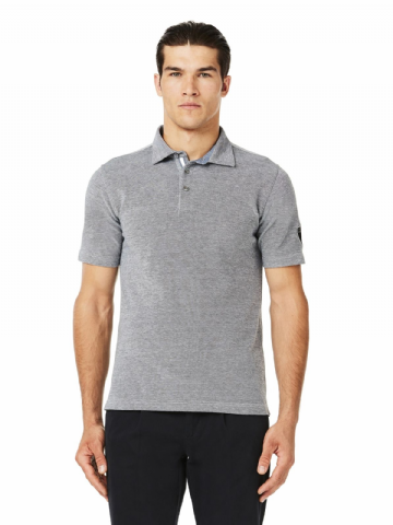 Lamborghini Men's Oxford polo - Navy Oxford